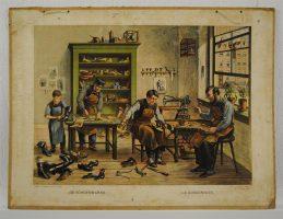 De schoenmaker, schoolplaat van Josef Hoevenaar.