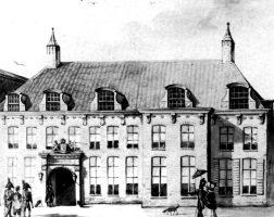 Paleis van Justitie in Den Bosch in de 19e eeuw. Illustratie: Koninklijk Huis Archief Den Haag
